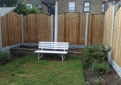 "New 5ft Bowed Panels, 12"" Brick Gravel Boards & 8ft Concrete Posts"