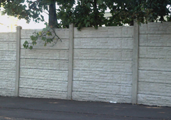 Brick Effect Gravel Board Wall